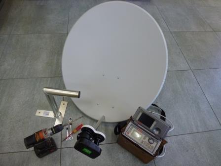 Kompletní montáž sat. (1TV - dvě družice)