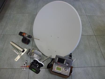 Kompletní montáž sat. (2 TV - dvě družice )
