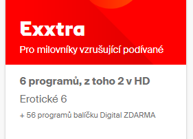 Balíček Exxtra 1 měsíc