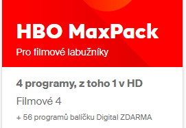 HBO MaxPack 1 měsíc